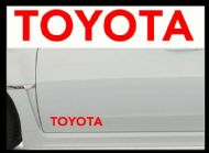 TOYOTA CAR BODY DECALS